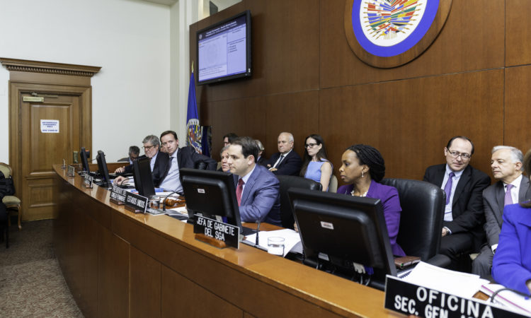 "On April 30, 2018, the OAS Permanent Council convened a Special Meeting to discuss - ""The Humanitarian Situation Being Experienced by the Venezuelan People, and Its Impact on the Countries of the Region."" (OAS Photo)"