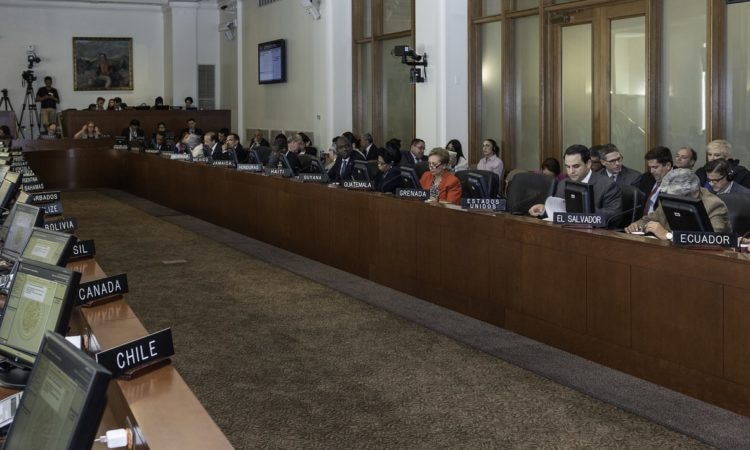 On September 12, 2018, the OAS Permanent Council adopted a resolution condemning the acts of violence, repression and human rights violations and abuses committed against the people of Nicaragua by the Ortega government. Ambassador Carlos Trujillo addressed the Council. (OAS Photo)